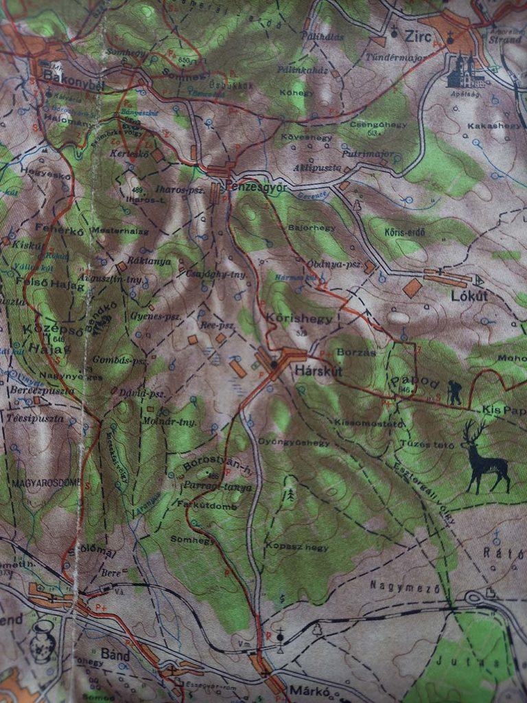 Bakony térképe 1961.