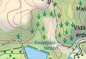 bozót jelölése térképen