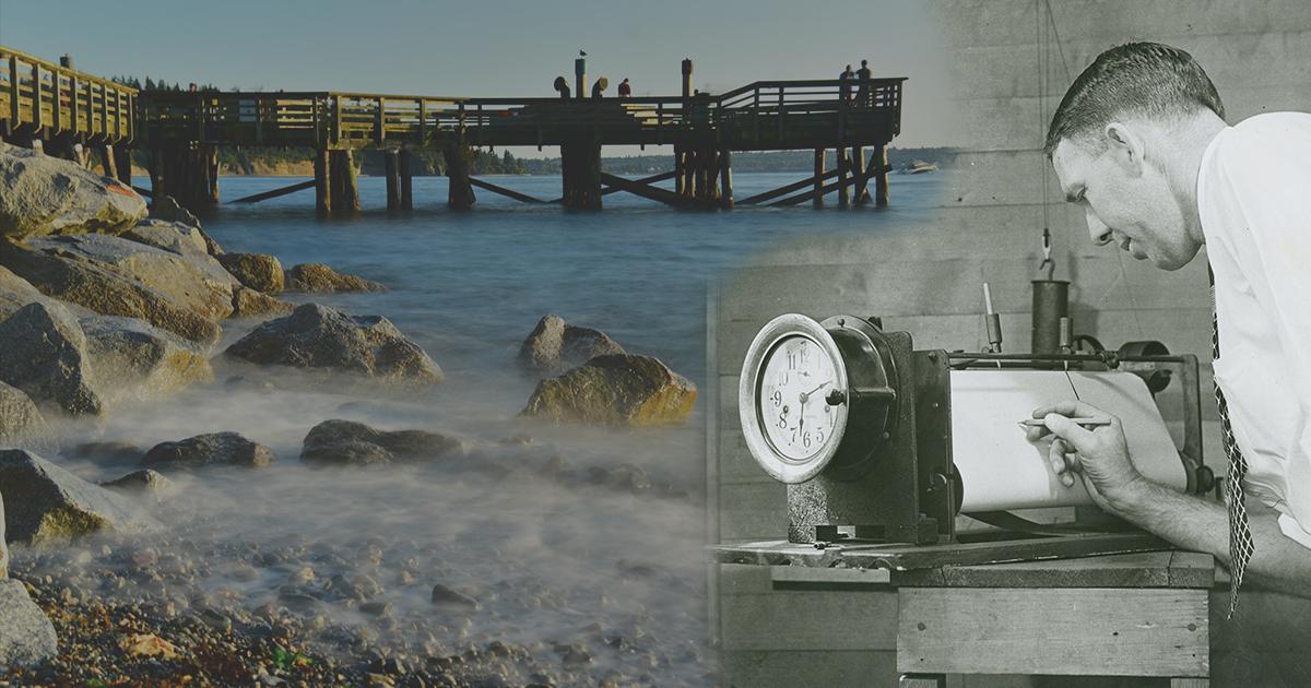 mareográf, a tenger középszintjének meghatározása