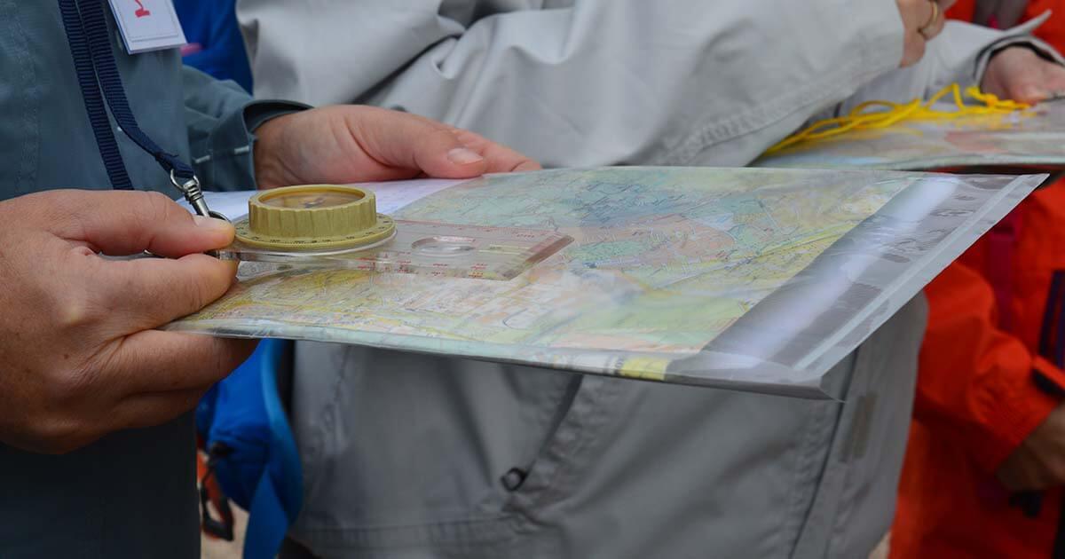 mérés térképen tájolóval