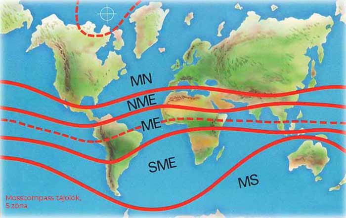 MossCompass 5 zónás egyensúlyi térkép