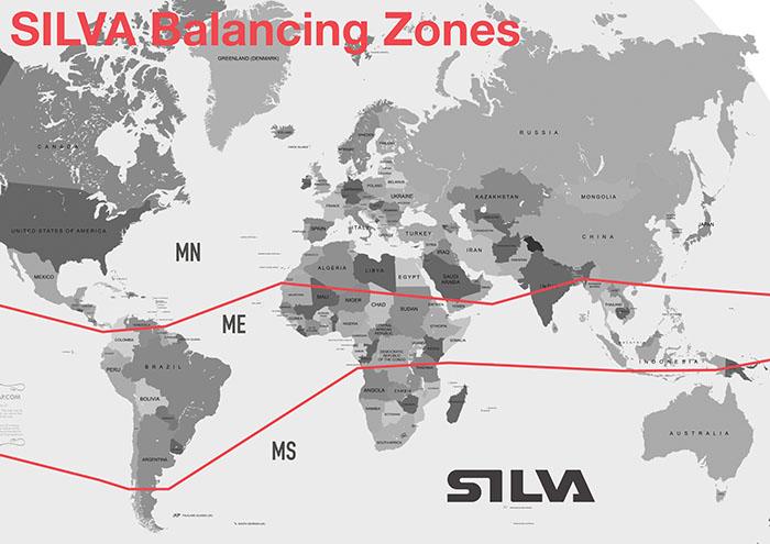 Silva 3 zónás egyensúlyi térkép