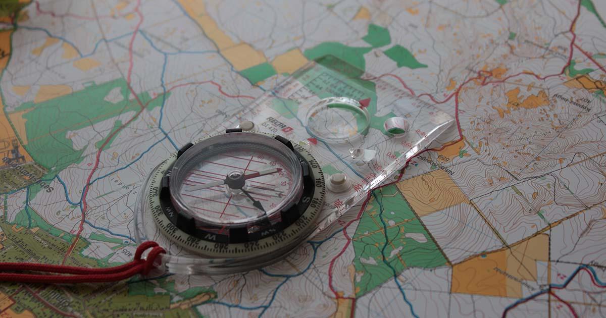 laptájoló tájfutó térképen