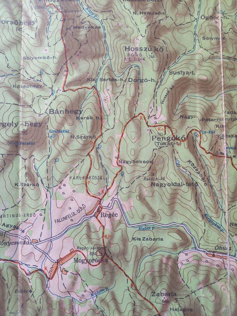 Zemplén térkép 1957.